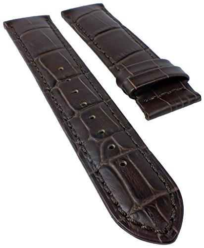 Correa de repuesto Jaguar de piel marrón oscuro con aspecto de cocodrilo para J661 J663 J866