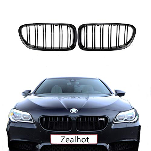 F10 Grille,Front Replacement Kidney Grille Grill for BMW 2010-2017 5 Series F10 F11 F18 M5 (Gloss Black)