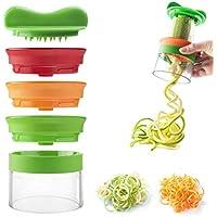 nuoshen - Espiralizador de Verduras en Espiral, Cortador de Verduras, Cortador de Verduras en Espiral para Verduras