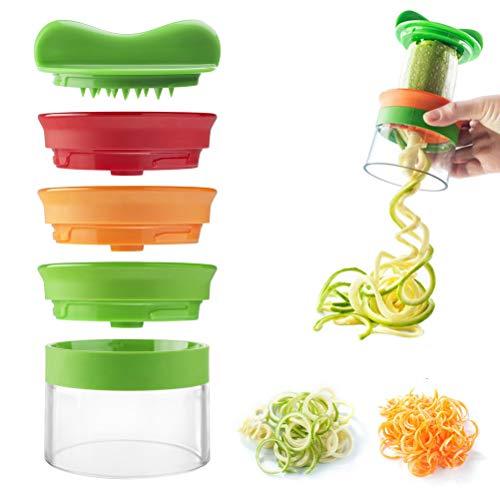 nuoshen - Espiralizador de Verduras en Espiral, Cortador de