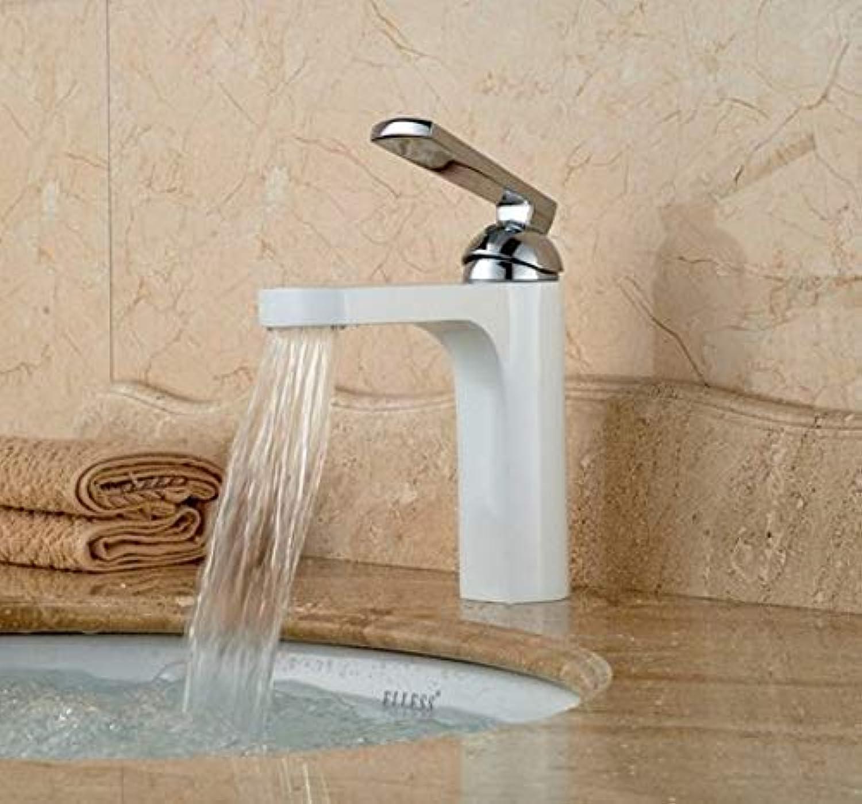360 ° drehbare Wasserhahn Retro Wasserhahn Becken Wasserhahn Wei Malerei und Chrom Becken Wasserhahn