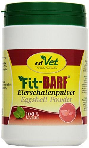 cdVet Naturprodukte Fit-BARF Eierschalenpulver 1 kg - Hund&Katze - gut verwertbare tierische Calciumquelle - 100% Eierschalenpulver - Mineralien, Spurenelemente,Vitamine - Rohfütterung - BARFEN -