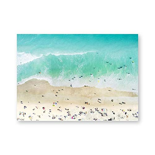 Strand Wandkunst Druck Luftbild Großes Poster Ozean Wandbild Leinwand Malerei Küstendekor Wohnkultur