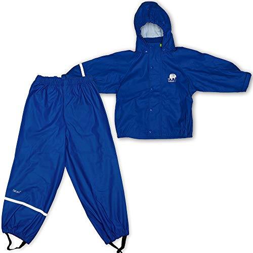 Celavi Kinder Unisex Regen Anzug, Jacke und Hose, Alter 4-5 Jahre, Größe: 110, Farbe: Blau, 1145