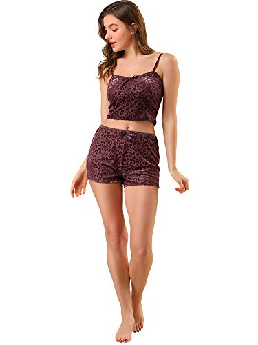 Allegra K Conjuntos De Pijama Lencería Camisola De Encaje Ropa De Dormir Pantalones Cortos De Camisola para Mujer