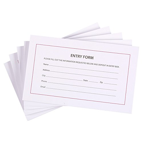 500 Sheets Entry Form Cards for Contests, Raffles, Ballots, Drawings, 6.2 x 3.7 Inches