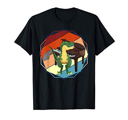 Música Regalo Divertido Para Niños Pianista Dinosaurio Piano Camiseta