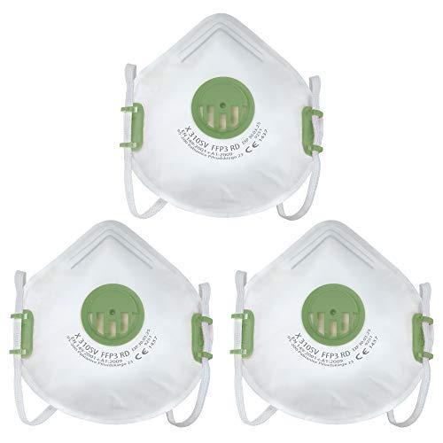 FFP3 Respirador, máscara de polvo de construcción, CE, EN149:2001 + A1:2009 máscara facial (3)