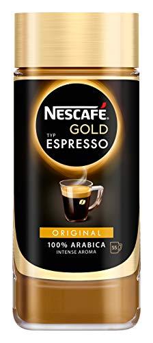 NESCAFÉ Gold Typ ESPRESSO, hochwertiger Instant Espresso mit 100% feinen Arabica Kaffeebohnen, koffeinhaltig, mit samtiger Crema, 1er Pack (1 x 100g)