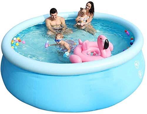 JWCN Großes aufblasbares Familien-Planschbecken im Freien Verdicken Sie den Sommer Fast Set Fun Round Pool - 183x56cm / 244x71cm-244 x 71 cm Uptodate