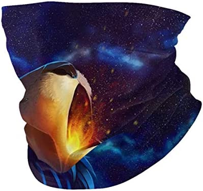 Galaxy Lion Howler Unisex Face Scarf Balaclava Bandanas Neck Gaiter Headwrap with Filter Pocket product image