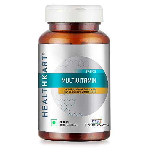 HealthKart Multivitamin with Ginseng Extract, Taurine and Multiminerals (Multivitamin, 90 capsules)