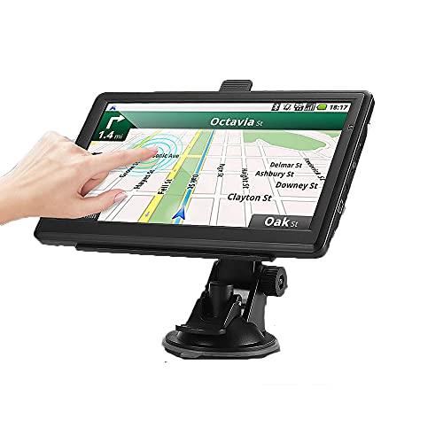 Navegador GPS para Camiones y Coches portátil satélite de 7 Pulgadas, con cámara de Velocidad y Pantalla táctil de guía de Voz y Mapa de navegador de por Vida de la UE 52 países 2021