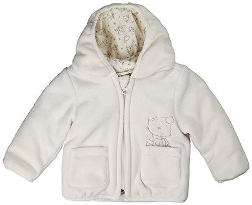 Kanz Unisex Baby Jacke Fleecejacke m. Kapuze 1/1 Arm 0003507 (Elfenbein (Snow White White 1050), 92)