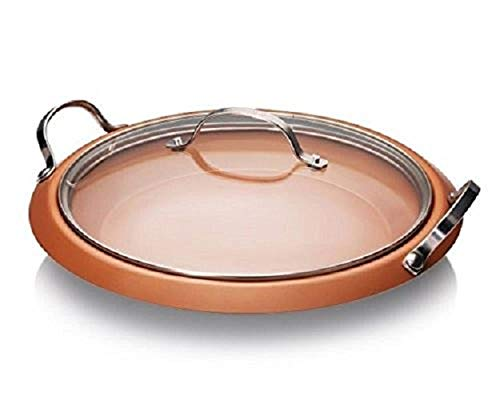 Gotham Steel – in 1 Pan with Nonstick Copper Coating and Stainless Steel Helper Handles – Dishwasher and, Metal Utensil Safe, Brown