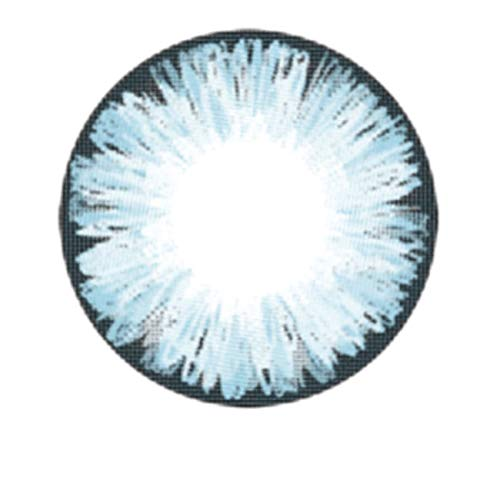 Matlens – EOS Farbige Kontaktlinsen ohne Stärke blau blue ICE II 2 Linsen 1 Kontaktlinsenbehälter 1 Pflegemittel 50ml