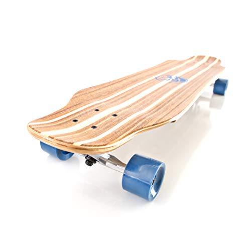 White Wave Bamboo Longboard Skateboard (Shocker)