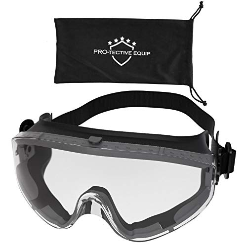 Protective Equip Safety Goggles Over Glasses