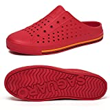 SAGUARO Unisex Garden Shoes Casual Slippers Womens Mens Quick Dry Water Shoes Sandals Summer Anti-Slip Beach/Pool/Garden/Yard Outdoor Shoes Red