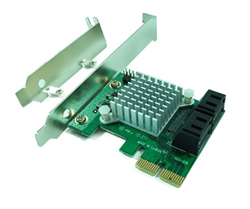 Ableconn PEX-SAT4R 4-Port SATA 6G PCI Express 2.0 Host Adapter - PCIe AHCI SATA III 6Gbps RAID Controller Card Support HyperDuo SSD Tiering (Marvell 88SE9230 Chipset)