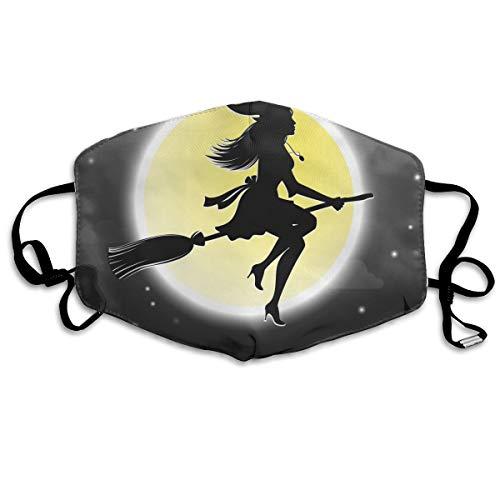 Houity stofdicht wasbaar masker, Halloween heksen vliegen op bezemstokken, zacht, ademend, wasbaar, knop verstelbare masker, geschikt voor mannen en vrouwen maskers