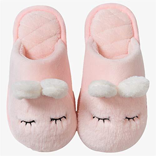 CNZXCO Zapatillas de Conejito Zapatillas de algodón para niños en otoño e Invierno, niños, niños, niñas, Interior, sin Deslizamiento, Zapatillas para bebés (Color : Pink, Size : 180)