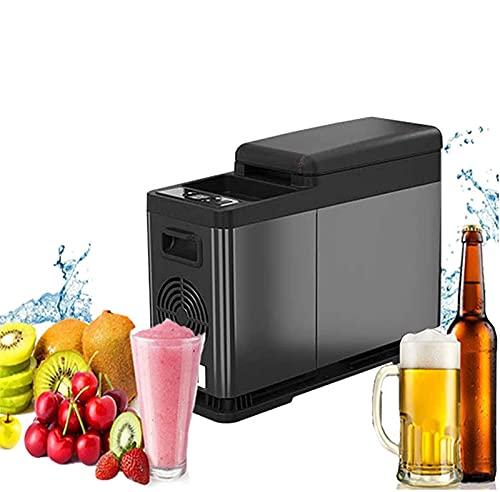 NMSLA Refrigerador de automóvil Mini 8L Compacto Compacto Frigorífico Control de Temperatura Bluetooth Refrigerador de Mano Puede Estar Conectado Congelador portátil congelación y refrigeración