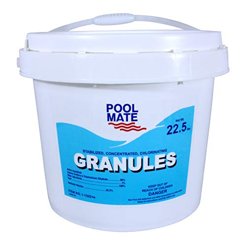 Pool Mate 1-1322 Stabilized/Concentrated/Chlorinating Granules, 22-Pound