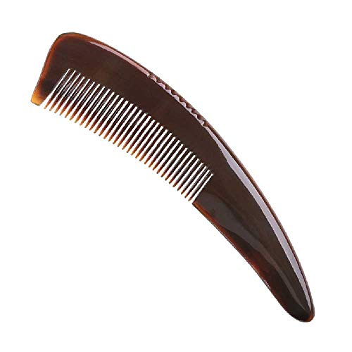 FANTHY-kam Koe Hoorn Kam Natuurlijke Buffalo Hoorn Kam Haarverzorging Tool Haar Kam Big red corner tip