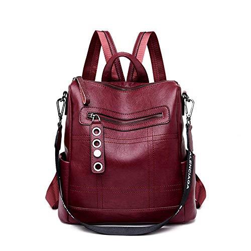N-B Backpack Women Leather Female Backpack School Bags For Teenagers Girls Travel Backpack