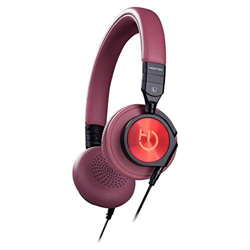 Hiditec | Auriculares de Diadema Potentes Aviator Brown | Capacidad de Plegado | Diseño Moderno | Headphones Estéreo Supraurales con Giro de 90º | Muy Ligeros con Micrófono Omnidireccional