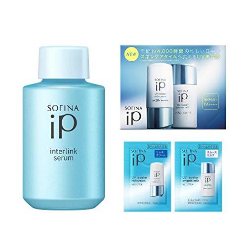 ソフィーナiP(アイピー) インターリンクセラム うるおって瑞々しい肌へ【瑞】 つけかえ 80g + おまけ付セット [ 美容液 ][ オールインワン ][ 化粧水機能+乳液機能 ] 80g+おまけ付