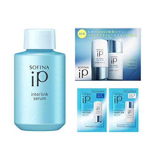 【Amazon.co.jp限定】 ソフィーナiP(アイピー) インターリンクセラム うるおって瑞々しい肌へ【瑞】 つけかえ 80g + おまけ付セット [ 美容液 ][ オールインワン ][ 化粧水機能+乳液機能 ]