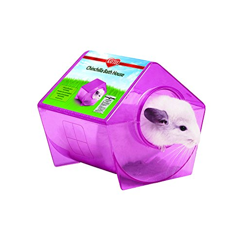 Kaytee Chinchilla Bath House, Assorted Colors, 9.25''X9''X8.5''