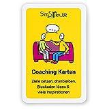 Coaching Karten Set - Ziele setzen, dranbleiben, Blockaden lösen & viele Inspirationen   32 selbst gezeichnete Karten   Achtsamkeit und Motivationskarten
