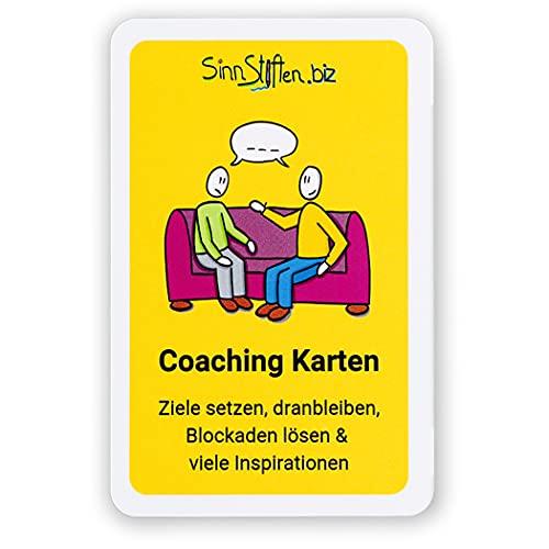 Coaching Karten Set - Ziele setzen, dranbleiben, Blockaden lösen & viele Inspirationen | 32 selbst gezeichnete Karten | Achtsamkeit und Motivationskarten
