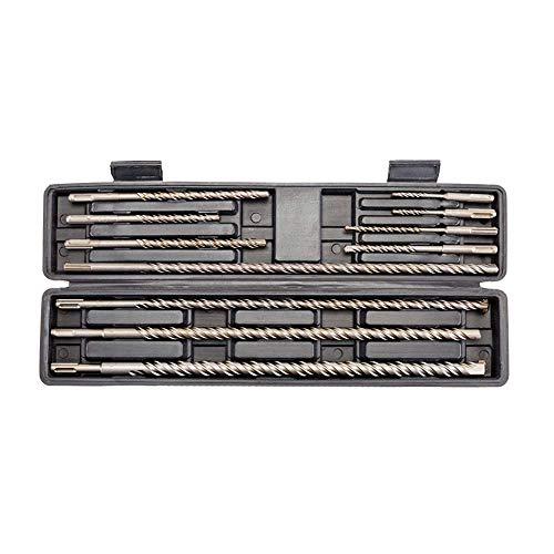 TR TOOLROCK Spiralbohrer Set, 11 Stücke Extra Lange Spiralbohrer Bohrer aus Schnellarbeitsstahl Zylinderschaft 5-20mm