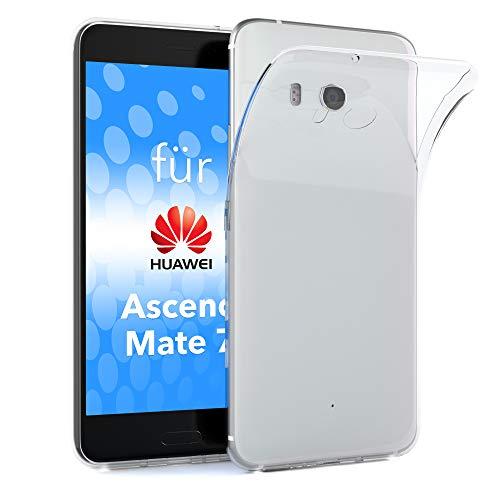 EAZY CASE Hülle kompatibel mit Huawei Ascend Mate 7 Schutzhülle Silikon, Ultra dünn, Slimcover, Handyhülle, Silikonhülle, Backcover, Durchsichtig, Klar Transparent