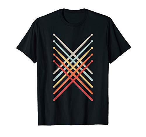Drummer Vintage Drumsticks Drums Rock Music Metal Band Gift T-Shirt