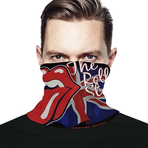 Best-design Rolling Stones - Calentador de cuello de microfibra para hombre y mujer, polainas elásticas para la cara y media máscara, bufanda de tubo versátil para la cabeza