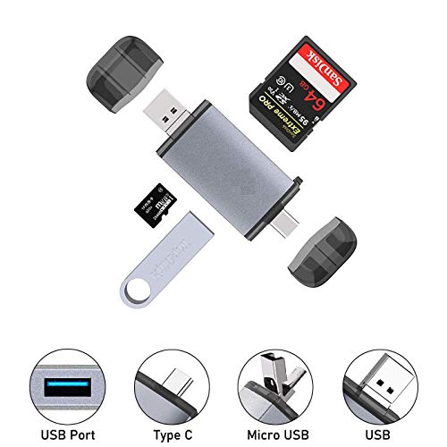 Brand Conquer SD Card Reader USB Type C, USB 3.0 and Micro...