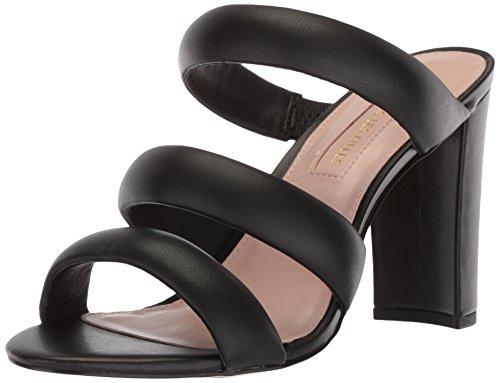 Avec Les Filles Women's Mara Heeled Sandal, Black Nappa, 5.5 M US