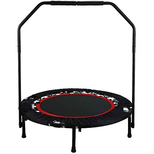 Trampoline Exercise Foldable Fitness Trampoline,Portable 40-50 inch Max Load 400 lbs Trampoline with Handle Mat Exercise Rebounder for Indoor/Garden