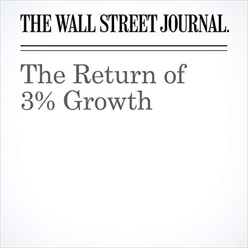 The Return of 3% Growth copertina