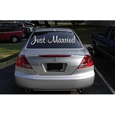 Just Married Car Window Decal, 12x32