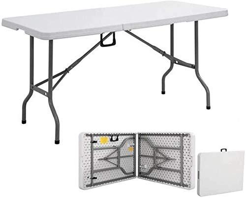 Mesa plegable para exteriores o exteriores, mesa larga, simple y portátil, tamaño 150 x 70 cm, 120 x 60 cm