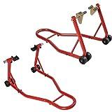 Goplus Motorcycle Sport Bike Stand Front & Rear Wheel Stand Swingarm Lift Auto Bike Shop