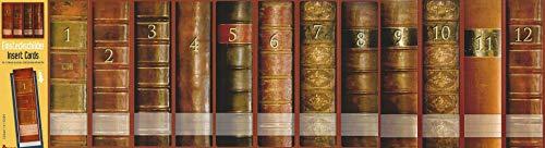 12 Einsteckschilder Ordnerrücken Lexikon Bücher 1-12 Einsteck Ordner Deko IC01 02 03