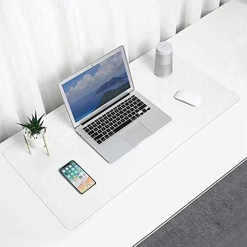 Transparente Schreibtischunterlage, rutschfest, runde Kanten, Schreibunterlage, PVC, wasserdicht, strukturiert, Schreibtischunterlage für Büro und Computertisch, 80 x 40 cm