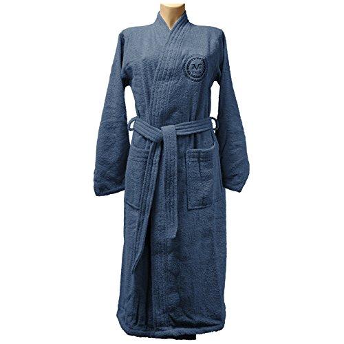 Versace 1969 Albornoz, tamaño M-L Mujer, Azul